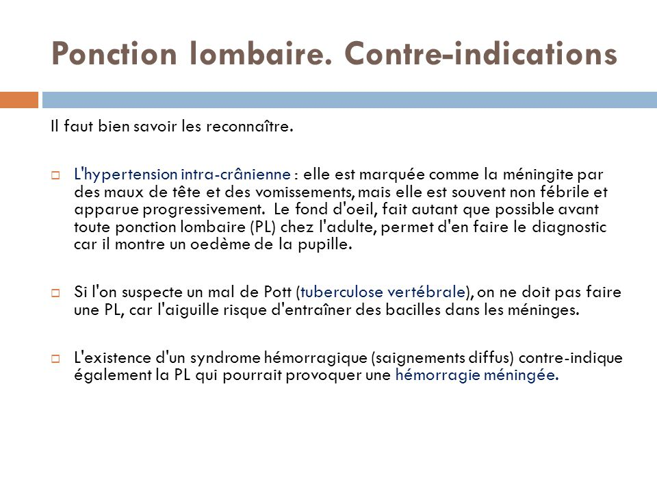 the blanc contre indication