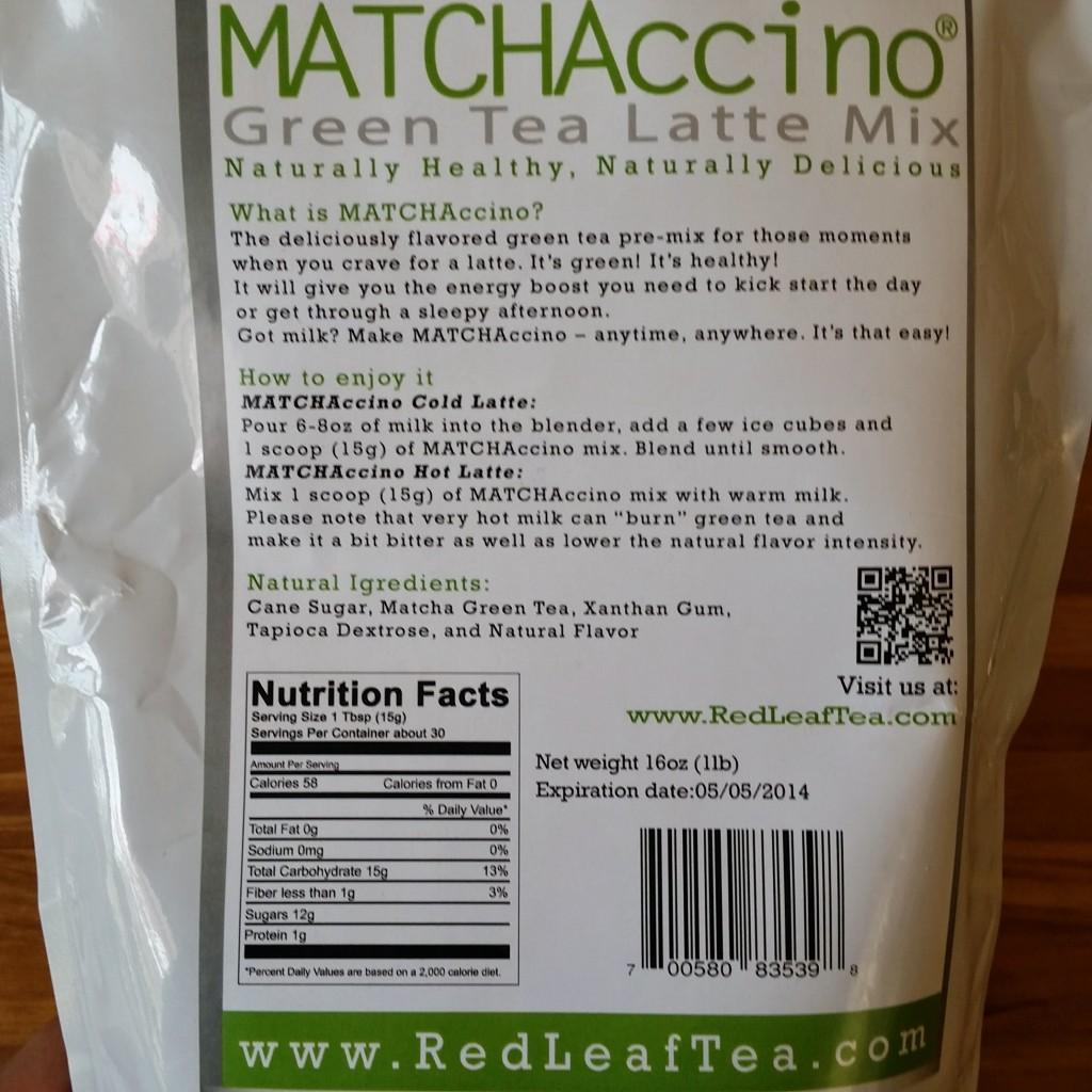 the matcha calorie