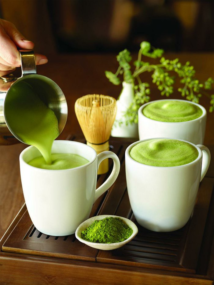 the matcha preparation