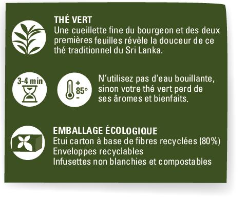 the vert ceylan bienfait