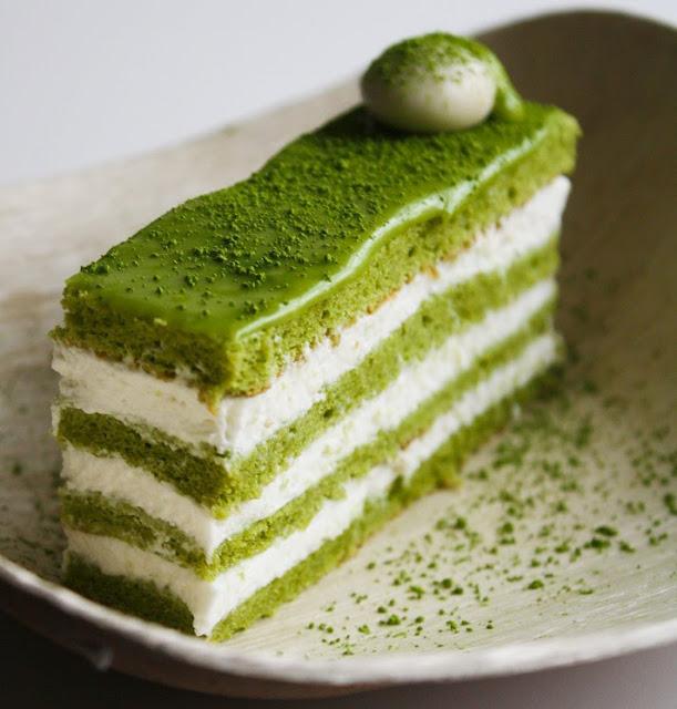 the matcha cake