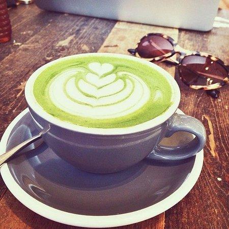 the matcha cappuccino