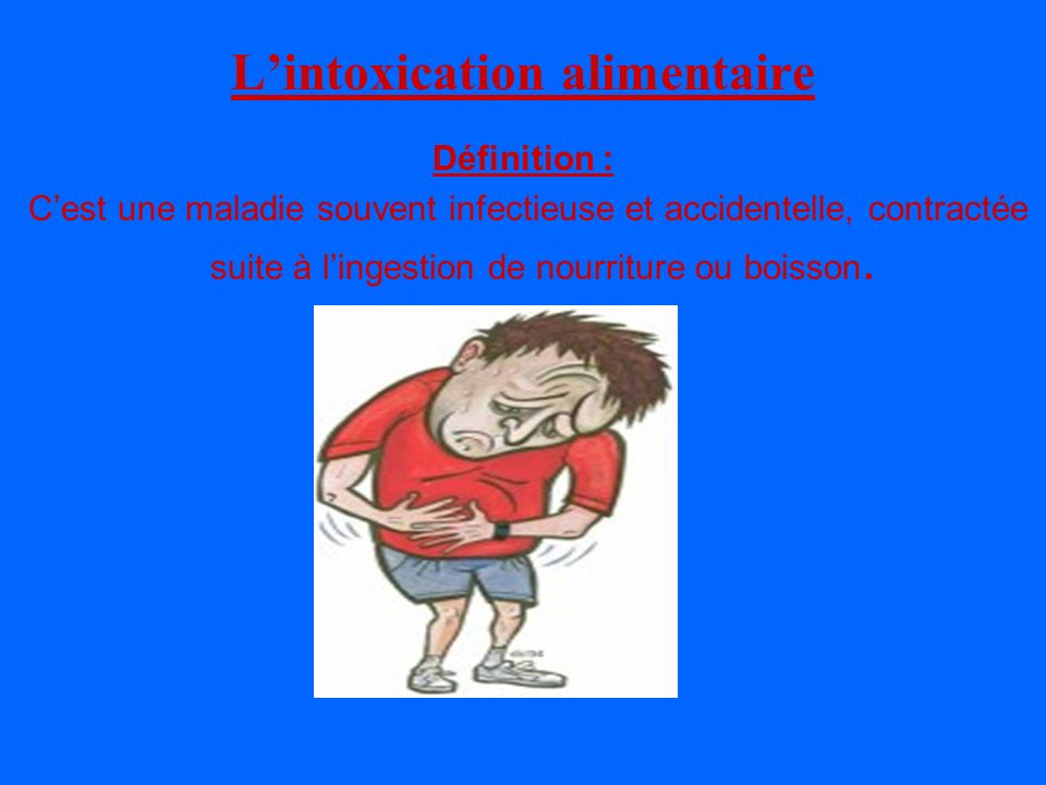 the vert intoxication alimentaire